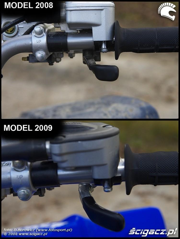 dzwignia gazu porownanie yamaha yfz450 2008 yfz 450 2009 img 0001
