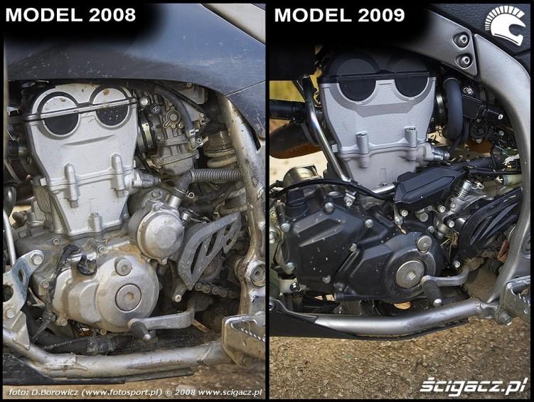 zasilanie silnika porownanie yamaha yfz450 2008 yfz 450 2009 img 00011
