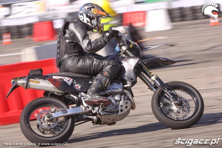 Wyscig Supermoto Intercars Motor Show 2014