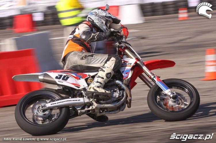 Zawodnik Supermoto Intercars Motor Show 2014