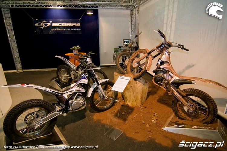 scorpa trial motocykl stoisko