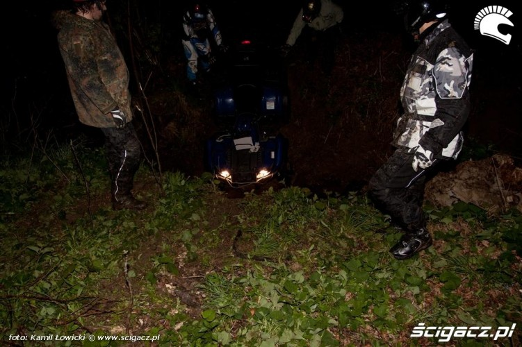 Noc na quadzie Yamaha Offroad Experience Ring Road zawodnicy