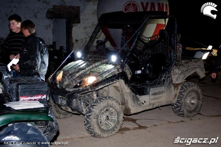 Noc na quadzie Yamaha Offroad Experience przygotowania