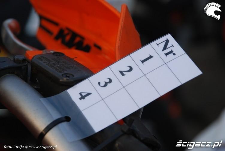 karta pkp na motocyklu KTM
