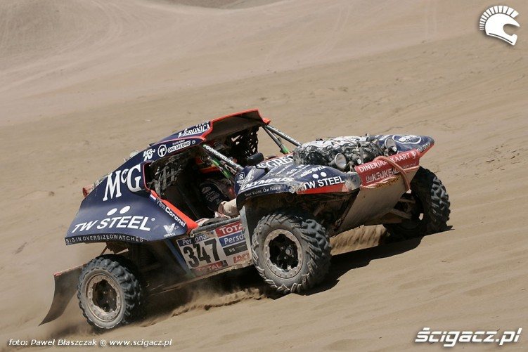 Buggy Rajd Dakar 2010 opuszcza pustynie