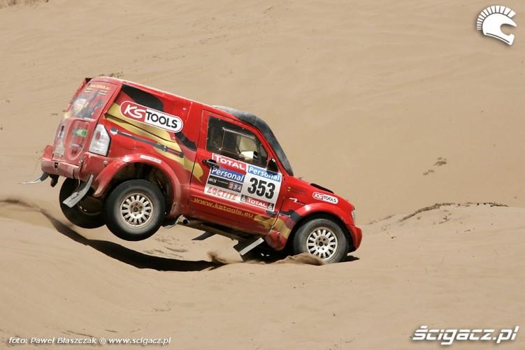 Samochody Rajd Dakar 2010 opuszcza pustynie
