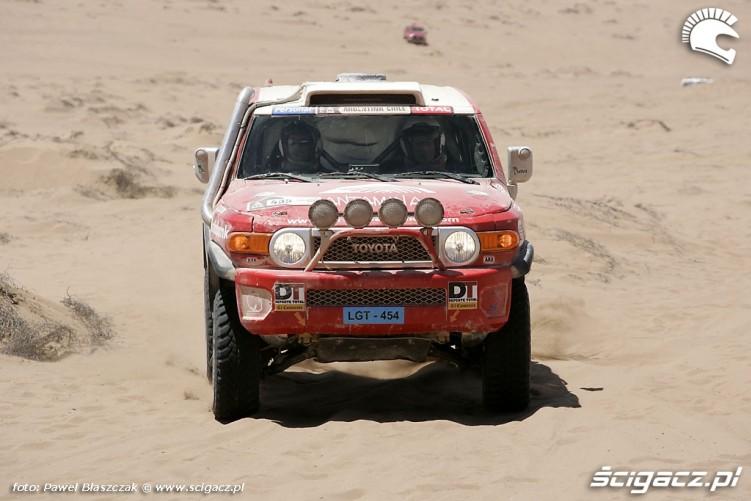 Toyota Na Pustyni Rajd Dakar 2010 opuszcza pustynie