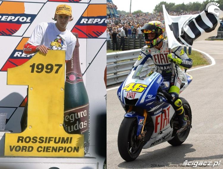 02) Valentino Rossi - pierwszy tytul Ms w 1997 (kl125) i set