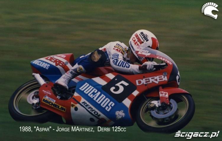 23a) Jorge Martinez (E) Czolowy kierowca Derbi kl80cc (1984