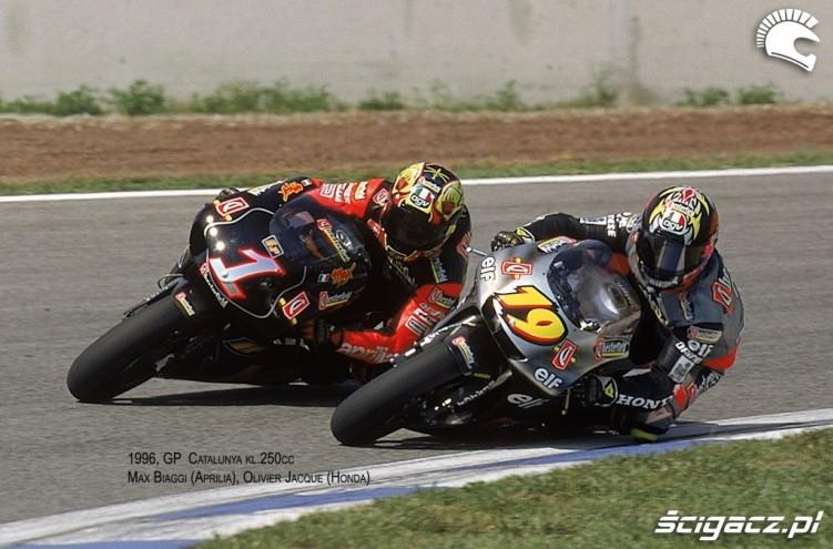 25) 1996 GP Katalonii Max Biaggi (mistrz swiata kl250cc 1