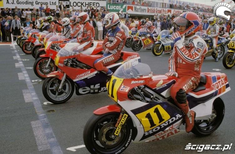 26) Silverstone 1984 kl500 Pierwsza linia - osmiu zawodni