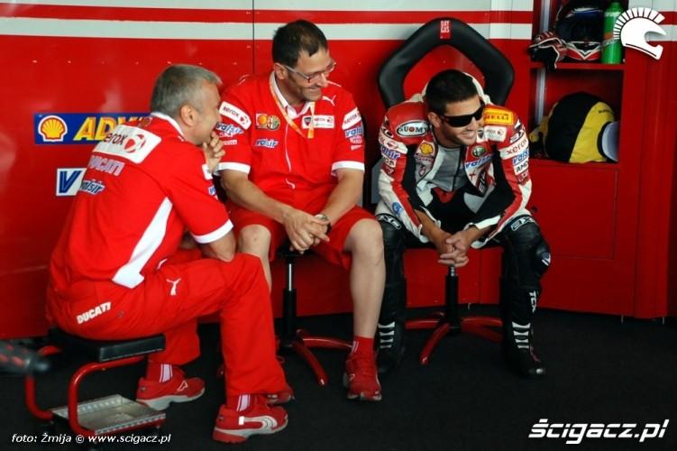 Ducati Xerox Team box