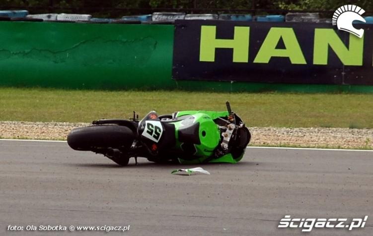 Laconi motorcycle after crash Brno circuit