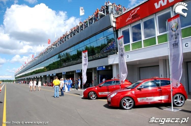 WSBK paddock Brno