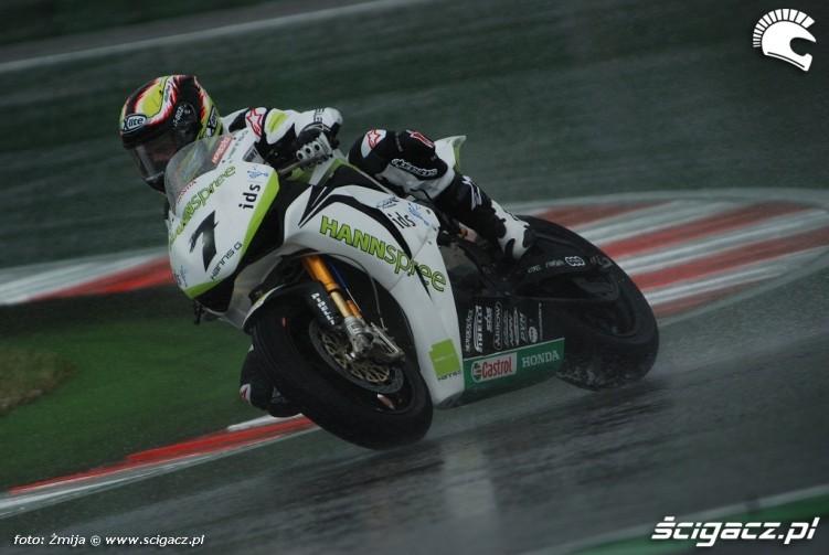 Carlos Checa Misano SBK wet race