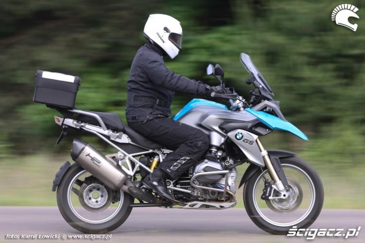szybka jazda BMW R1200GS