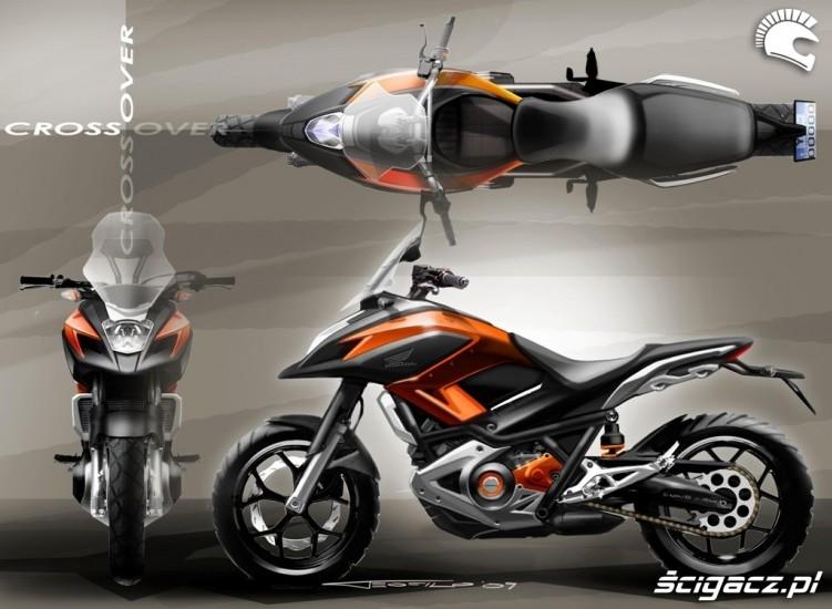 Zatwierdzona koncepcja Hondy NC700X