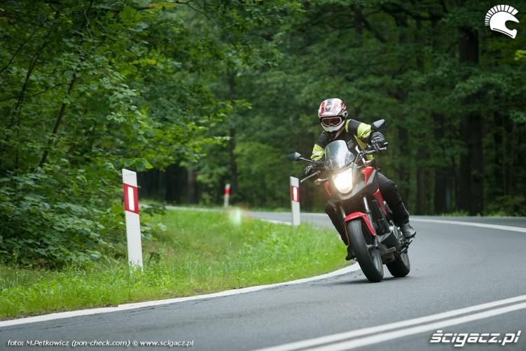 Honda NC700X trasa