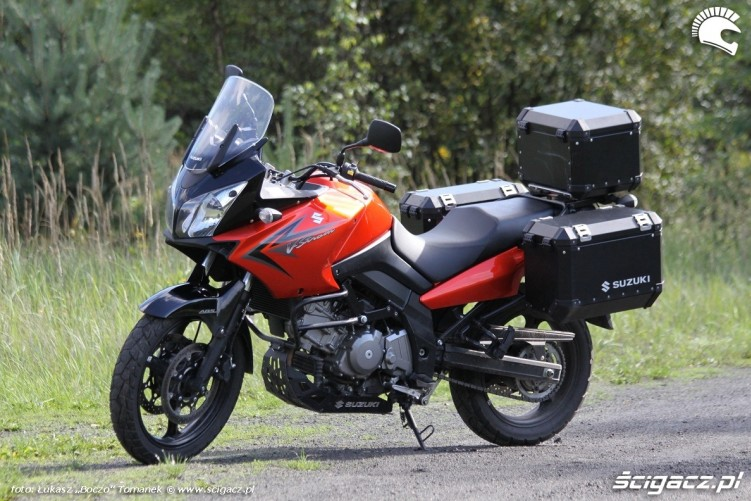 lesna drozka Suzuki DL650 test