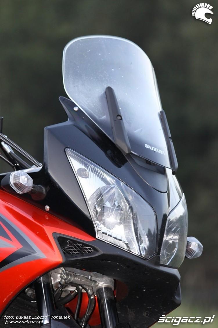 przednia owiewka Suzuki DL650 test