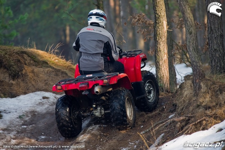 wyjazd w las grizzly 350 yamaha test a mg 0125