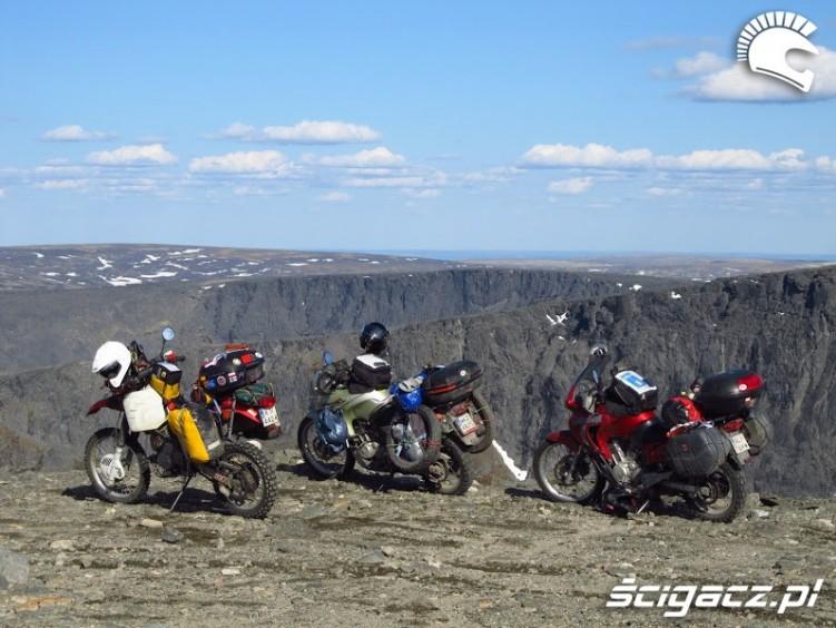 motocykle w gorach