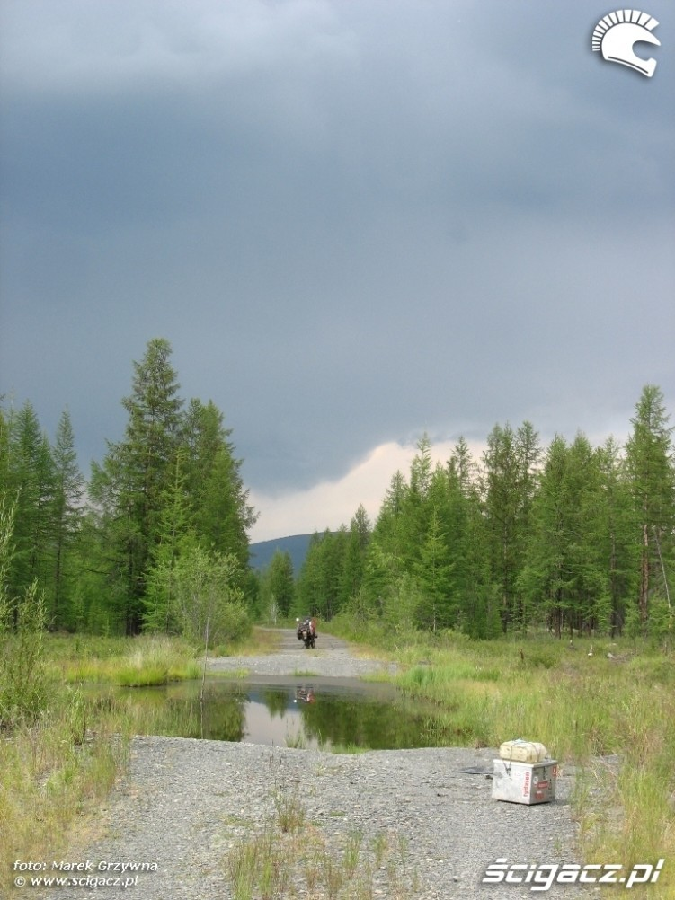 Droga na kosciach Syberia