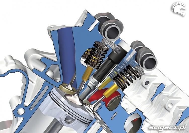 BMW S1000RR 2009 uklad rozrzadu