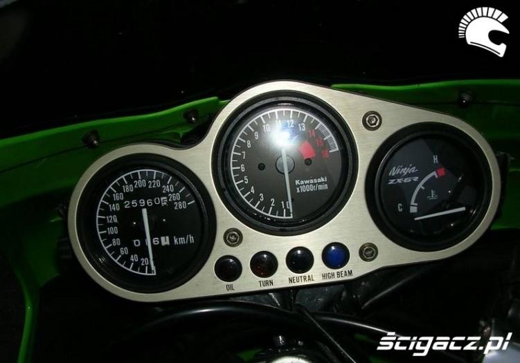 Kawasaki ZX6R zegary1995