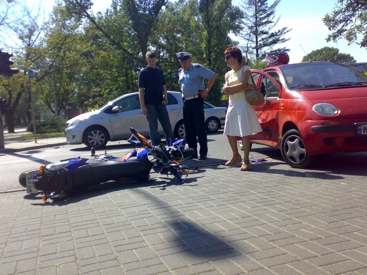 Wypadek na motocyklu