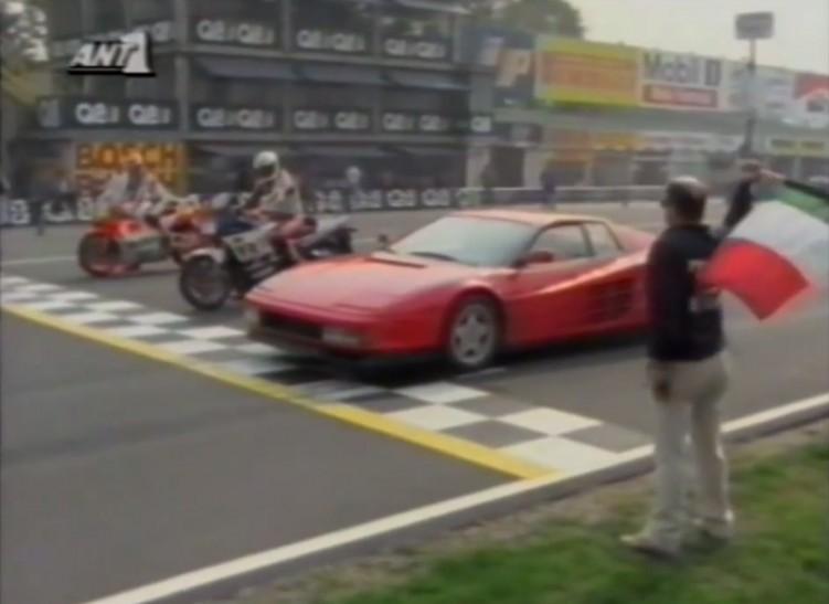 Ferrari Testarossa vs Yamaha Fz 750 vs Yamaha Yzr 500