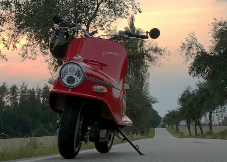 Cezeta 506 czerwona