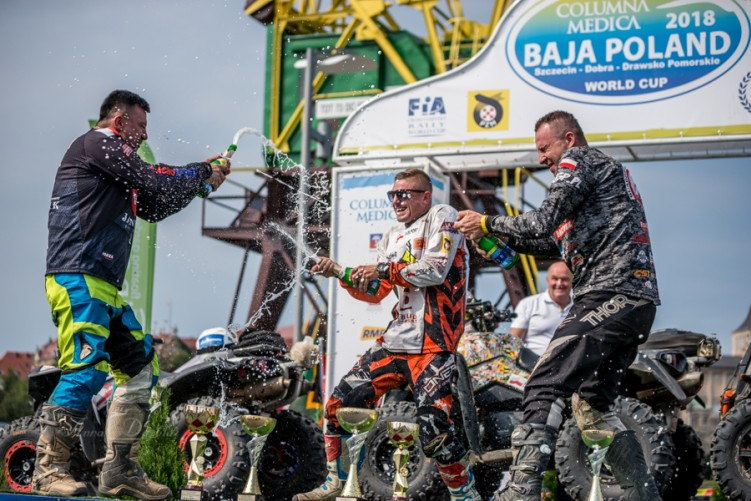 Baja Poland 2018 podium