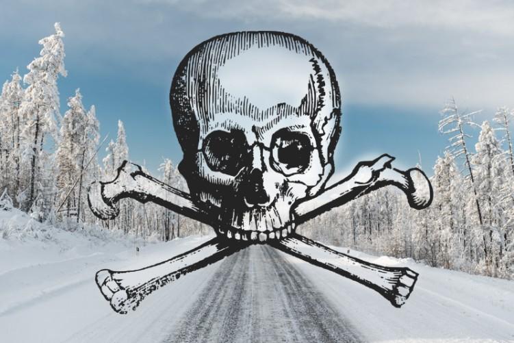 rosja droga czaszka kosci