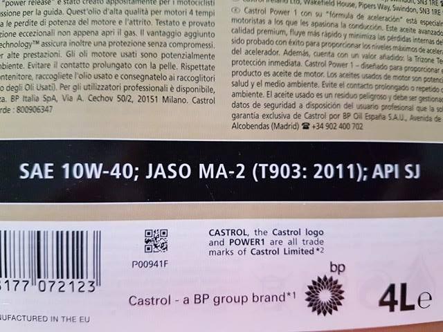477c5fd94991d5 Zdjęcia: Etykieta Castrol 10W40 - Motocyklowy olej silnikowy co ...