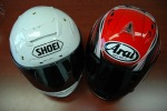 Shoei XSpirit II Arai RX7GP test