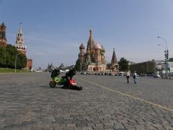 skuterem po Moskwie