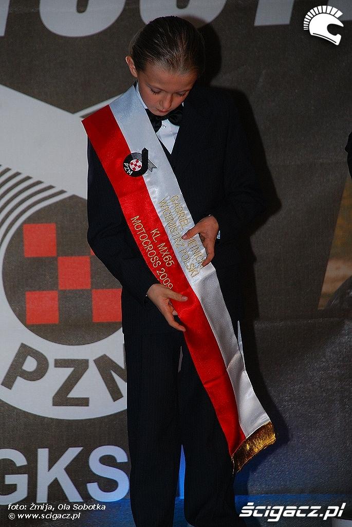 Gabriel Chetnicki Wicemistrz Polski KL MX 65 Motocross