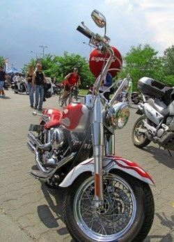 custom chopper Motocyklowa Niedziela na BP wroclaw