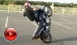 Honda CB 500 stunt