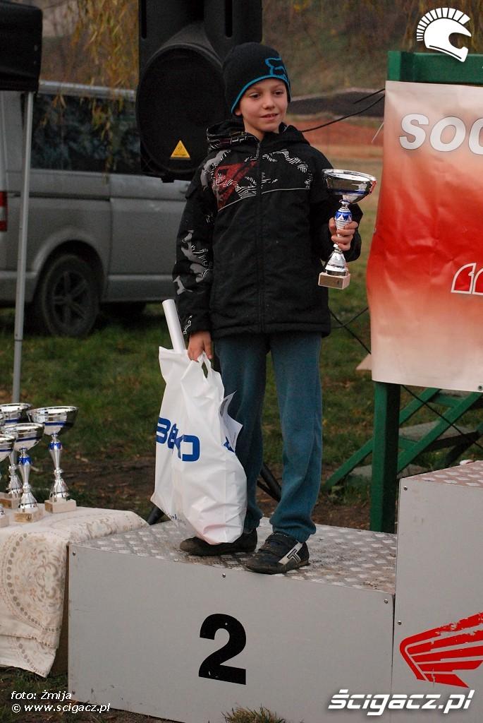 podium Damian Zdunek miejsce 2 MX65