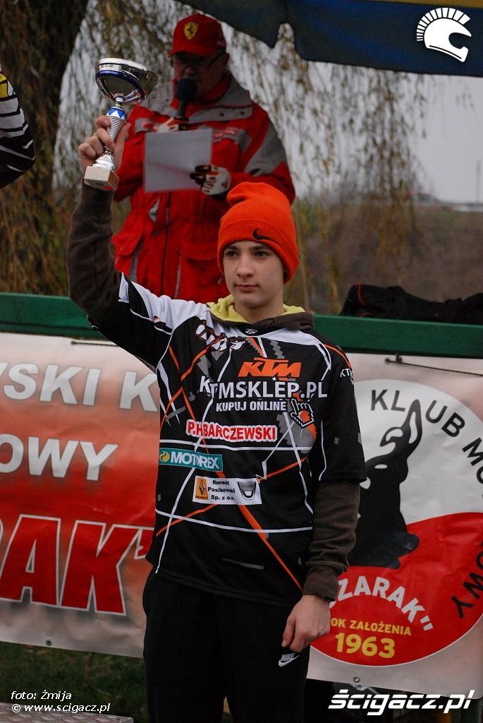 podium Jakub Barczewski miejsce 3 Junior