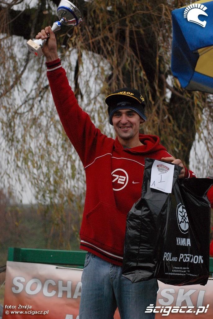 podium Lukasz Lonka miejsce 1 licencja A