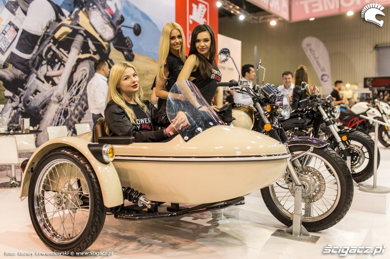 Targi motocyklowe Moto Expo 2017 laski na motocyklu