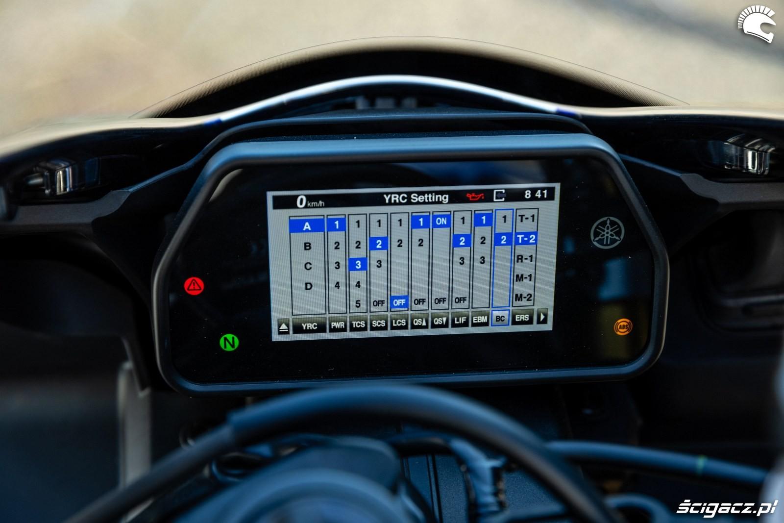 Yamaha R1 M 2020 zegar