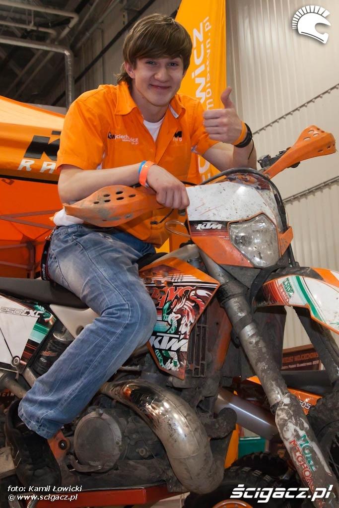 Eliasz Dawidson KTM 250EXC offroad Targi Motocyklowe Warszawa 2011 - III OWMiS