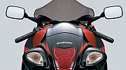 Suzuki Hayabusa model 2008 red painting rear view