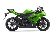 Zielony kawasaki ZX6r model2009