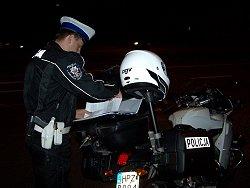 Papiery policyjne sluzba noca