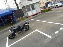 Motocykl gotowy do egzaminu